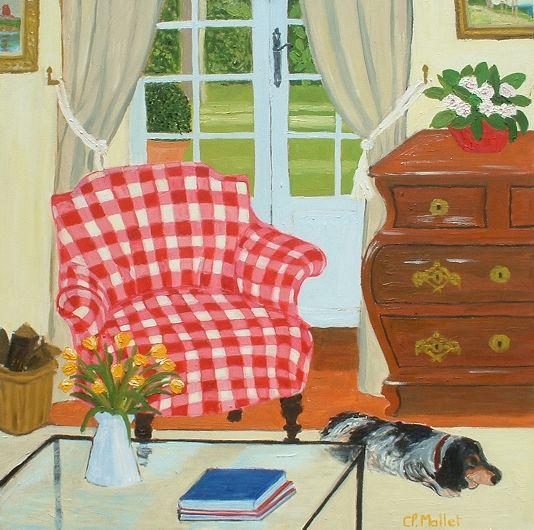 le fauteuil carreaux rouges. Black Bedroom Furniture Sets. Home Design Ideas